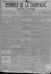 Le Courrier de la Champagne : Journal de Reims  