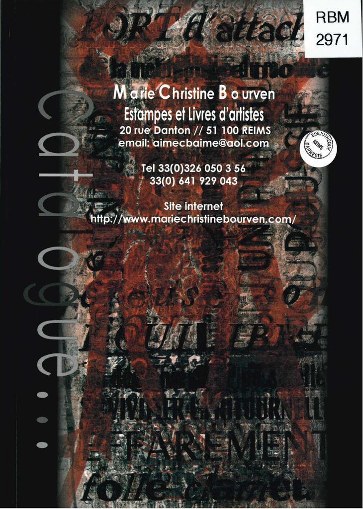 Catalogue... / Marie-Christine Bourven | Bourven, Marie-Christine (1951-....)