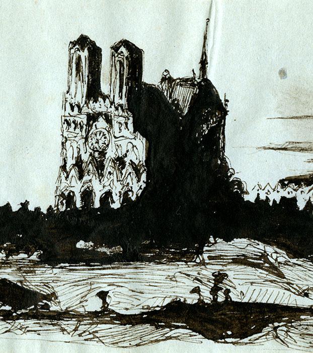 Un trésor à la loupe : la cathédrale Notre-Dame de Reims vue par Victor Hugo  